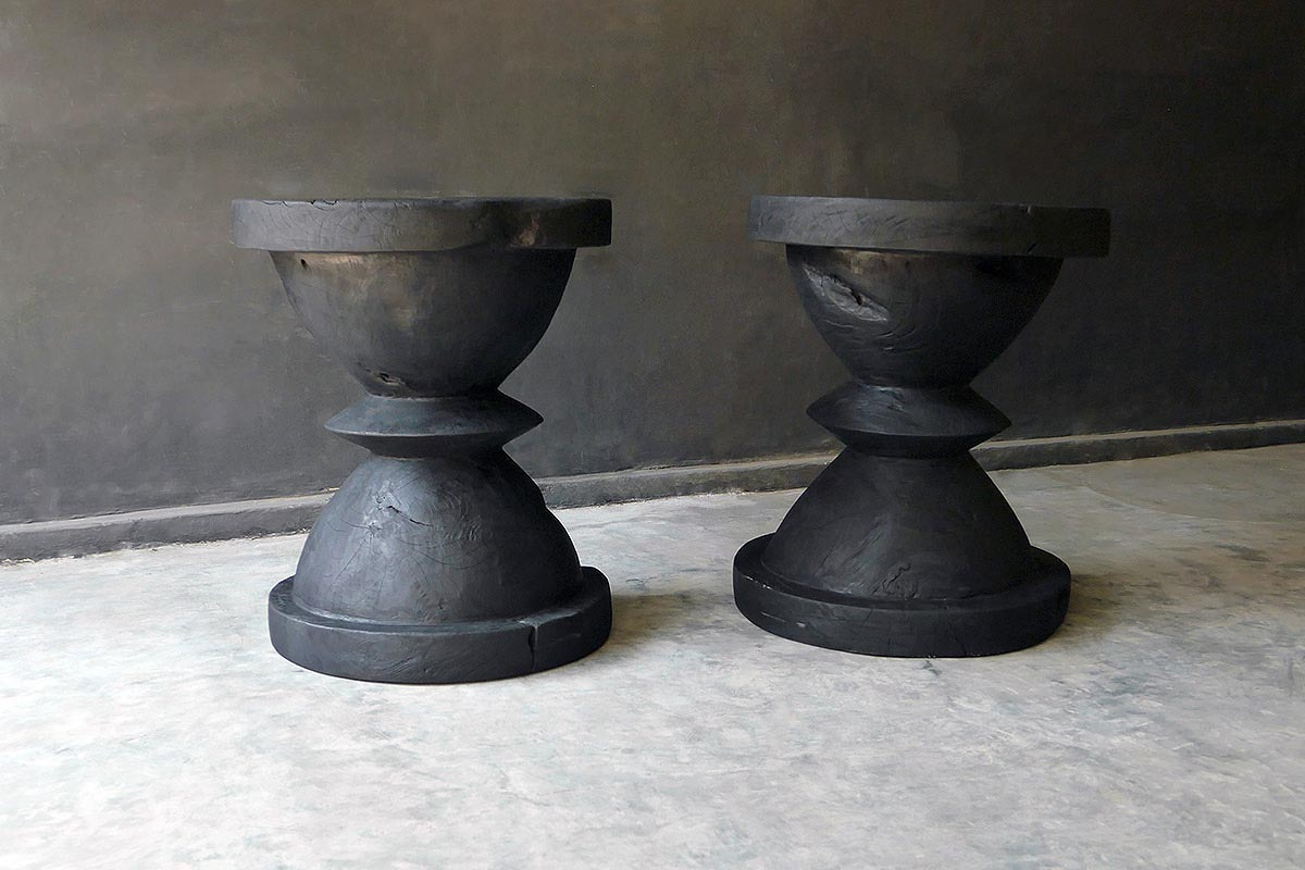 JAVA TEAK CHESS TABLE CHARCOAL - Blaxsand